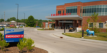 McDonough District Hospital Emergency Room Entrance